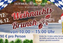 Xmas brunch at the Hofbräu Munich - Wirtshaus Berlin 2017